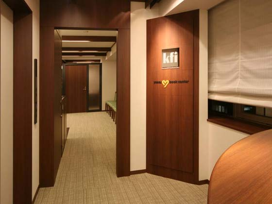 Financial Club inc./【Entrance area 】Seminar entrance on 8th floor makes effective use of the elevator hall.