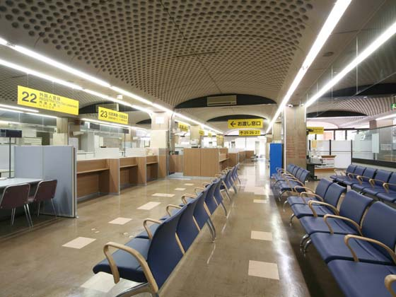 Yokohama City, Kanagawa Prefecture/【Naka Ward - Waiting area】The waiting area is large and spacious.