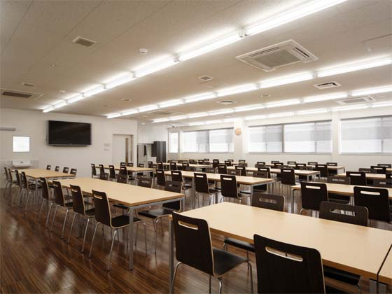 Wada Aircraft Technology Co., Ltd./【Cafeteria area】A cafeteria area designed to be open and relaxed.