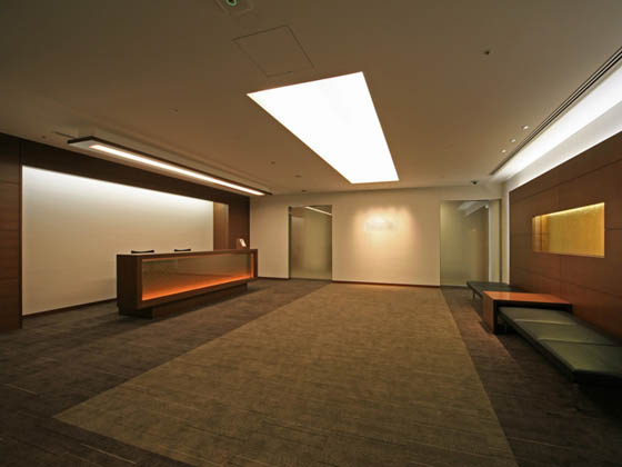 General Materials Manufacturer/【Entrance area】Executive area reception has a relaxed feel.