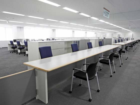 Ome City/【Office area】Storage, etc. was placed together between the counters and office area.