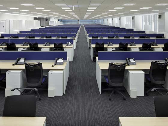 System consulting company/【Office area】Office area with universal layout