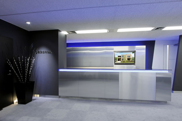 SEKISUI HEIM Chubu Co. Ltd./【Customer meeting counter】A reception counter for greeting the customers of the company
