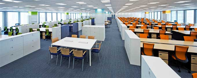 Nippon Meat Packers, Inc./【Office area】Open office space with a theme color established for each area