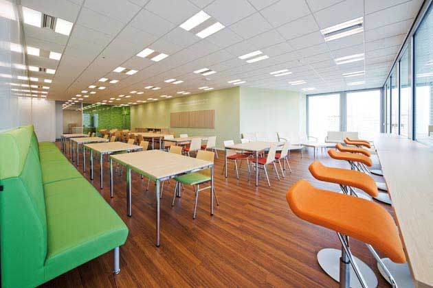 Nippon Meat Packers, Inc./【Break area】A bright break room promoting a change of mood