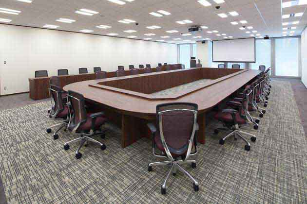 Nippon Meat Packers, Inc./【Executive meeting room】The executive meeting room can also be used as an emergency response headquarters at times of disaster