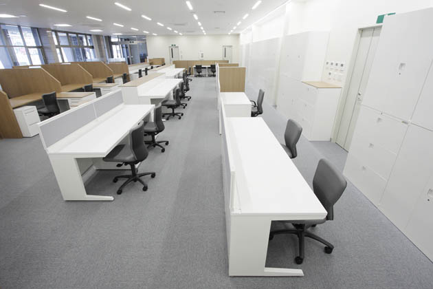 Shimizu Agricultural Cooperative/【Office space】Zoning of the office space that aims to create an environment that is easy to work in