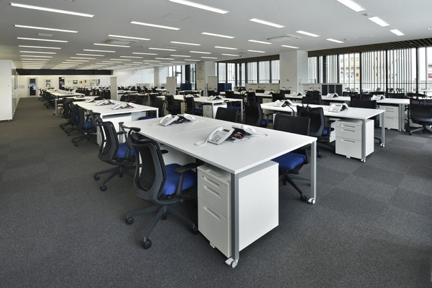 Sumitomo Wiring Systems, Ltd./【Office】Highly flexible work areas created by standardizing modules.