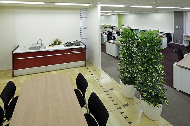 Cleanup Corporation/【Kitchen room】Employees naturally acquire a sense of scale and awareness of the company's products.