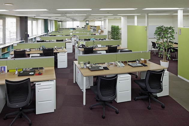 Cleanup Corporation/【Office area】In the future, a free-address system can be adopted for the workstations.