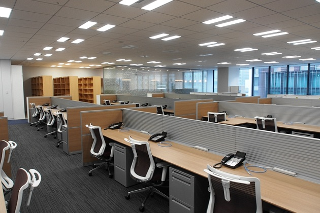 Group Holdings/【Work area】An integrated universal design is used.